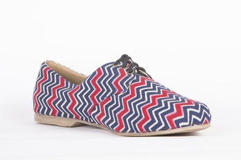 Women's Blue EVA Fabric Oxfords Shoe