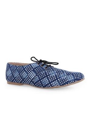 Women's Blue EVA Fabric Oxfords Shoe