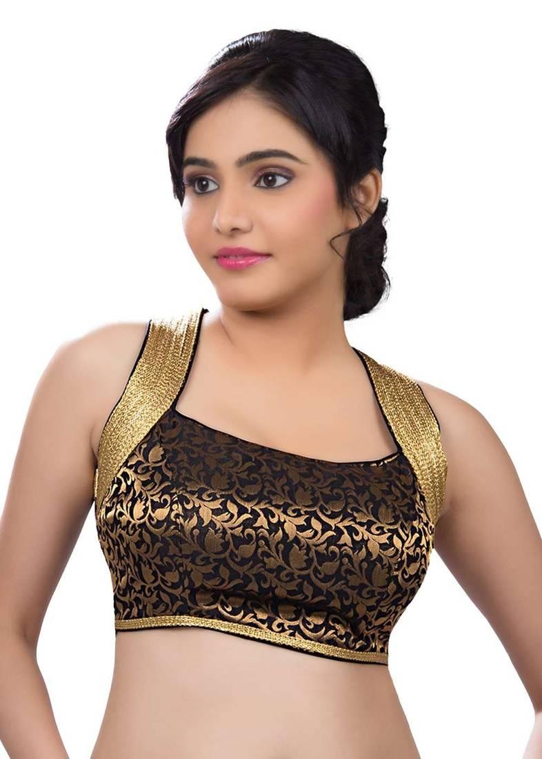 1475c733a attractive sleevless gold brocade blouse fabric attractive sleevless gold  brocade blouse fabric