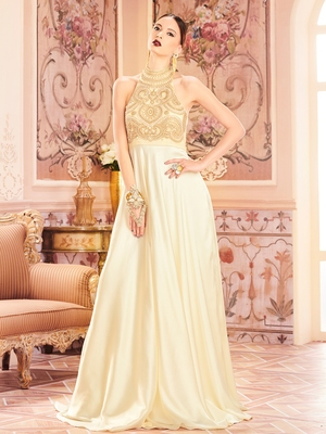 Khwaab Back Hold Evening Partywear Stitched Gown