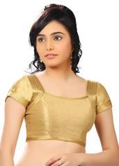 gold banglore silk unstiched blouse