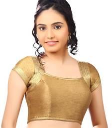 copper bluebanglore silk unstiched blouse