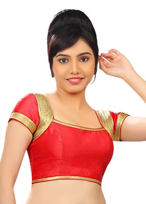 red banglore silk unstiched blouse