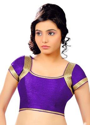 dark purple banglore silk unstiched blouse