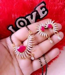 Buy Red diamond mangalsutra women-ethnic-wear online
