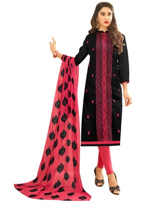 Black embroidered jacquard salwar
