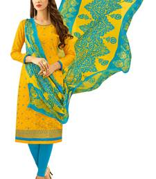 Buy Yellow embroidered jacquard salwar women-ethnic-wear online
