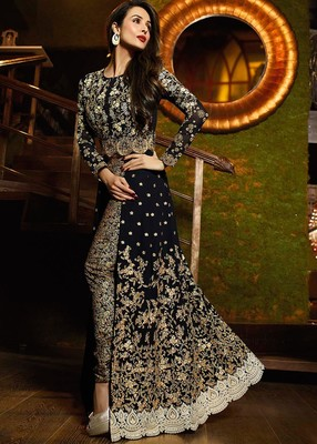 Black  Embroidery Work  Salwar Kameez with dupatta