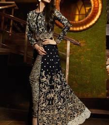 Buy Black  Embroidery Work  Salwar Kameez with dupatta malaika-arora-khan online