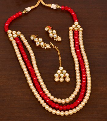 Kundan and Stone Embellished Multi-layered Wedding Essential Designer Necklace for Women