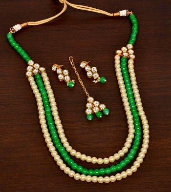 Kundan and Stone Embellished Multi-layered Wedding Essential Designer Necklace for Women