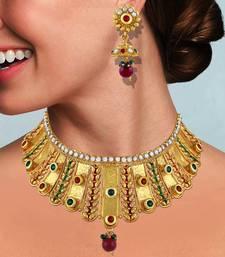 Gold necklace-sets necklace-set