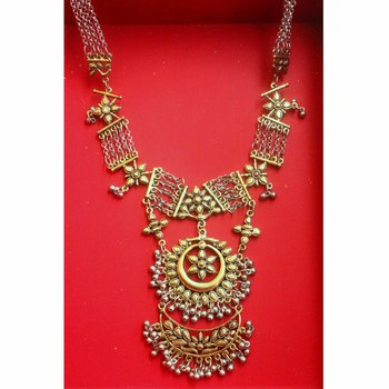 Silver and Gold Two Tone Kareena Necklace