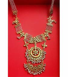 Buy Silver and Gold Two Tone Kareena Necklace Necklace online
