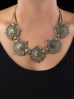Gold antique chaand necklace