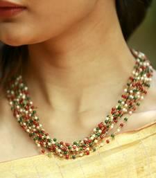 Buy Multicoloured beaded necklace women-ethnic-wear online