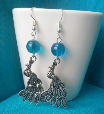 Blue Elegant Trendy Danglers