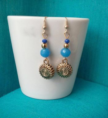Blue Bead Antique Danglers