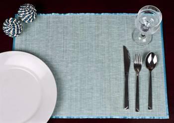 Premium Talipot Table mats - Blue - set of six