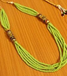 Antique Lookmeenakari Green Beads Necklace