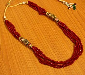 Ruby Antique Look Necklace