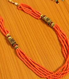 Orange Peach Antique Look Necklace
