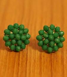 Green Crystal Beaded Earrings