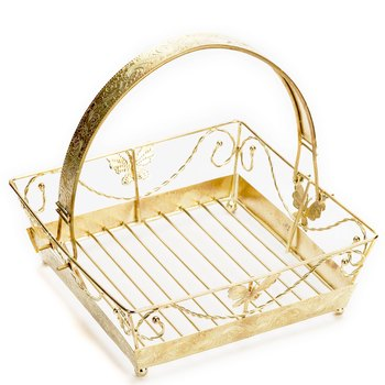 Square Golden Shade Gift Basket Tray