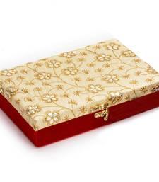 Golden Foil Work Red Wooden Gift Box