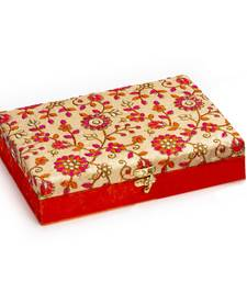 Red and Gold Floral Embroidered Gift Box