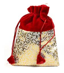 ebf6f34e1d Golden Print Red Stylish Pouch Bag