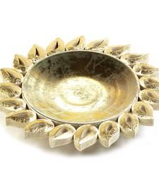 Flower Style Golden Gift Tray