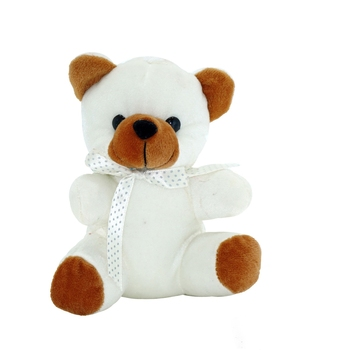 White and Brown Sweet Teddy Plush Toy
