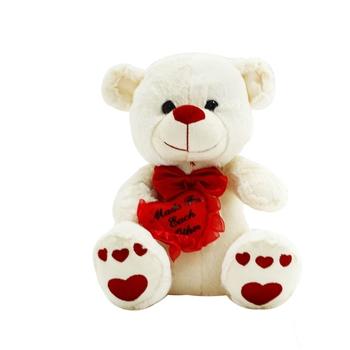 White Elegant Teddy Plush Toy