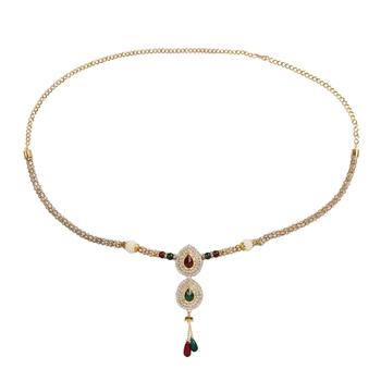 khetlazee gold plated alloy waistbelt/ kamarband/ kardhani