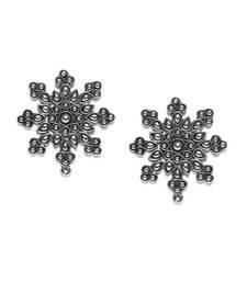 Buy German silver snowflake earrings stud online