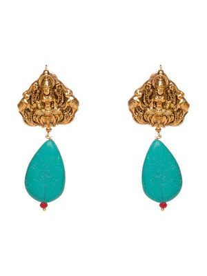 Lakshmi Turquoise Temple Studs