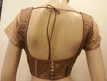 Golden shimmer handwork blouse
