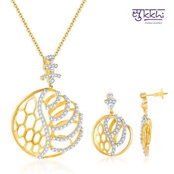 Sukkhi Classy Gold and Rodium plated CZ
