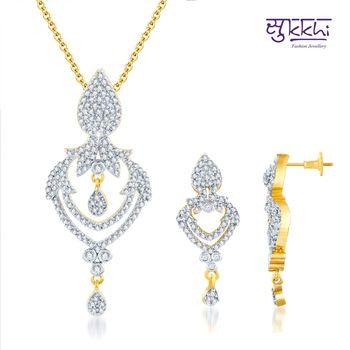 Sukkhi Lavish Gold and Rodium plated CZ