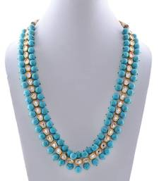 Kundan and turquoise beaded necklace