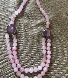 Buy Pink crystals and pink onyx necklace Necklace online