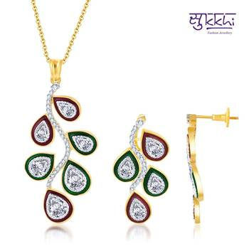 Sukkhi Traditional Meenakari Gold and Ro