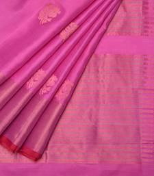 Buy Baby pink uppada silk handloom saree with blouse uppada-saree online