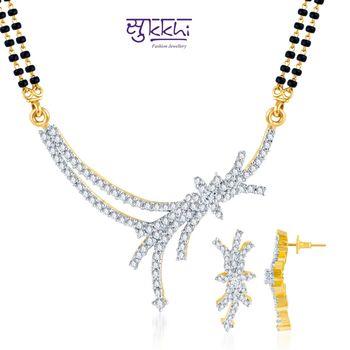 Sukkhi Classy Gold and Rhodium plated CZ