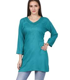 Green plain viscose kurti