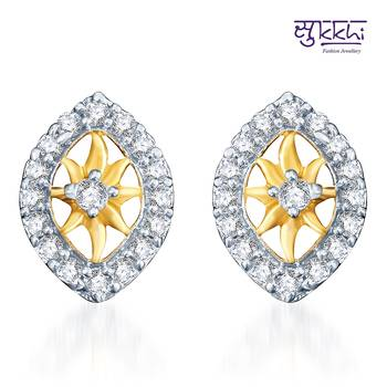 Sukkhi Incredible Gold  and Rodium plated CZ Earrings