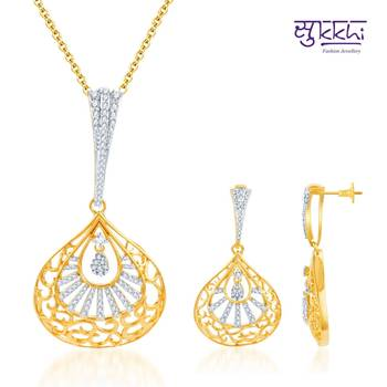 Sukkhi Gleaming Gold and Rodium plated C
