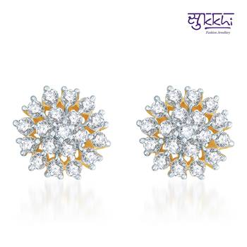Sukkhi Trendy Gold  and Rodium plated CZ Earrings