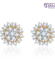 Buy Sukkhi Trendy Gold  and Rodium plated CZ Earrings  stud online